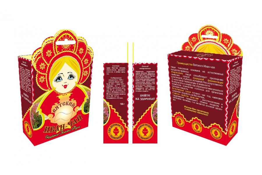 Вятский иван-чай в мелких гранулах «Чайное Злато Руси», 100 гр.