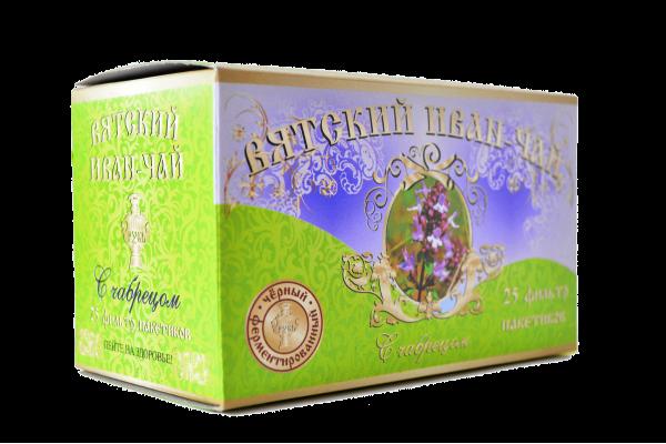 Вятский иван-чай с чабрецом в пакетиках, 50 гр.