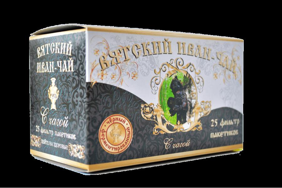 Вятский иван-чай с чагой в пакетиках, 50 гр.