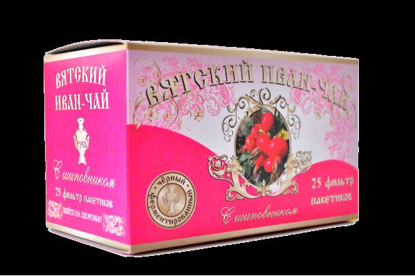 Вятский иван-чай с шиповником в пакетиках, 50 гр.