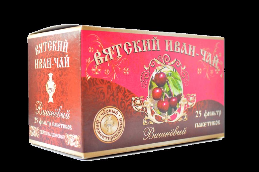 Вятский иван-чай «Вишнёвый» в пакетиках, 50 гр.