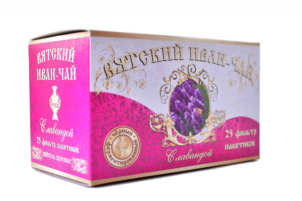 Вятский иван-чай с лавандой в пакетиках, 50 гр.