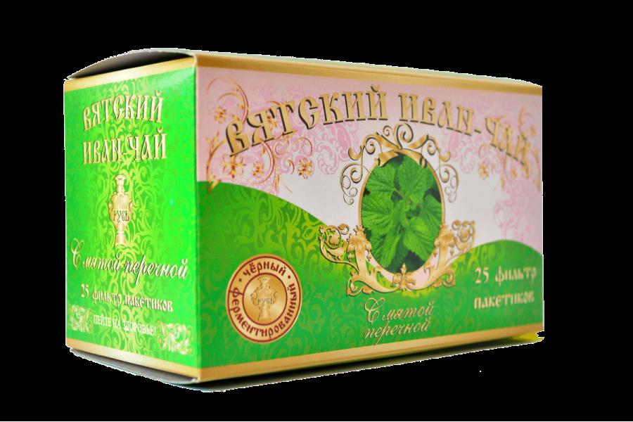 Вятский иван-чай с мятой в пакетиках, 50 гр.