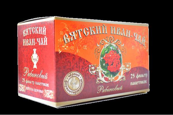 Вятский иван-чай «Рябиновый» в пакетиках, 50 гр.