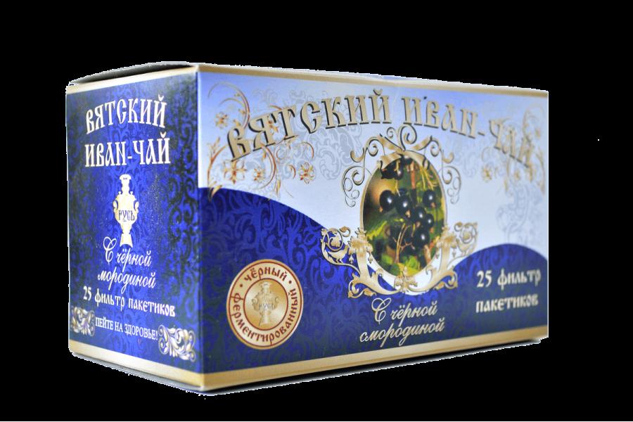 Вятский иван-чай с чёрной смородиной в пакетиках, 50 гр.