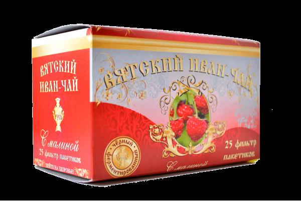 Вятский иван-чай с малиной в пакетиках, 50 гр.