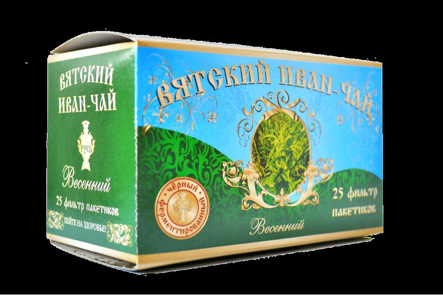 Вятский иван-чай «Весенний» в пакетиках, 50 гр.