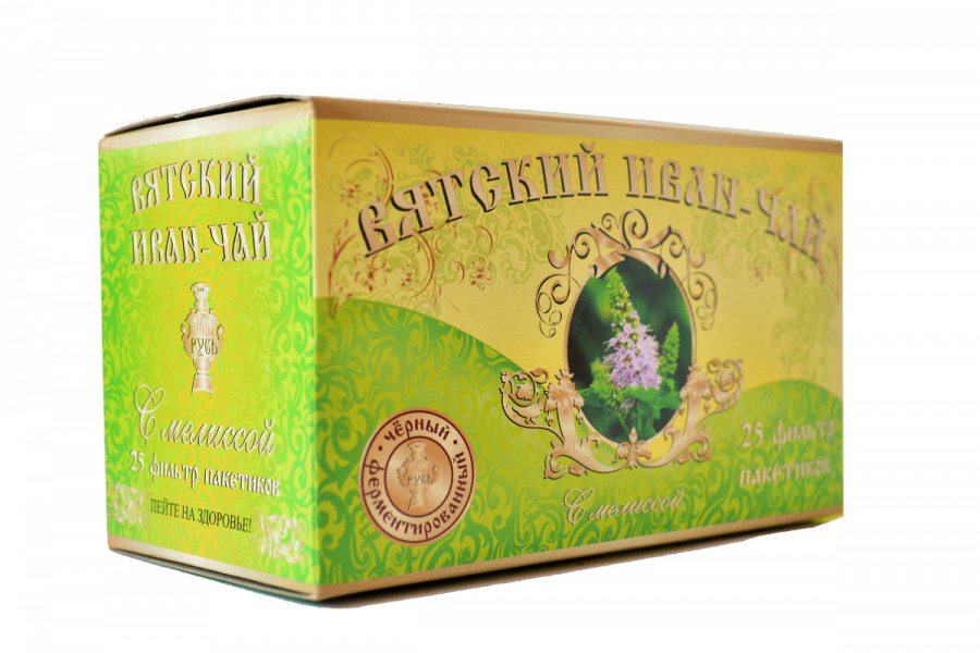Вятский иван-чай с мелиссой в пакетиках, 50 гр.