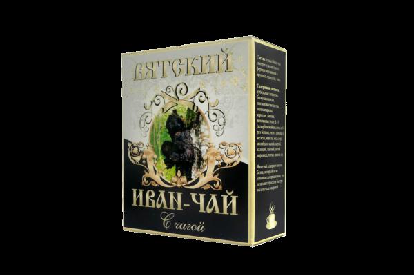 Вятский иван-чай с чагой, 100 гр.