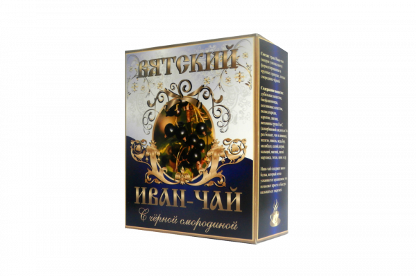 Вятский иван-чай с чёрной смородиной, 100 гр.