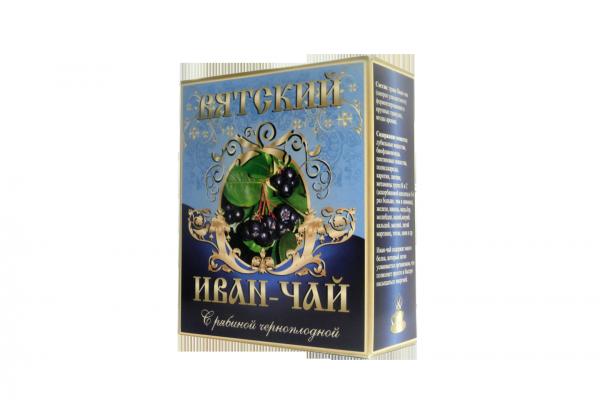 Вятский иван-чай с рябиной черноплодной, 100 гр.